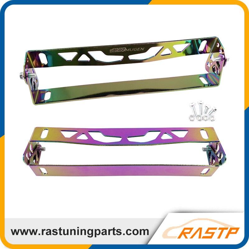 RASTP - Universal Aluminum Adjustable Rotating Number Plate Auto License Plate Frame License Plate Holder Mugen LS-BTD012