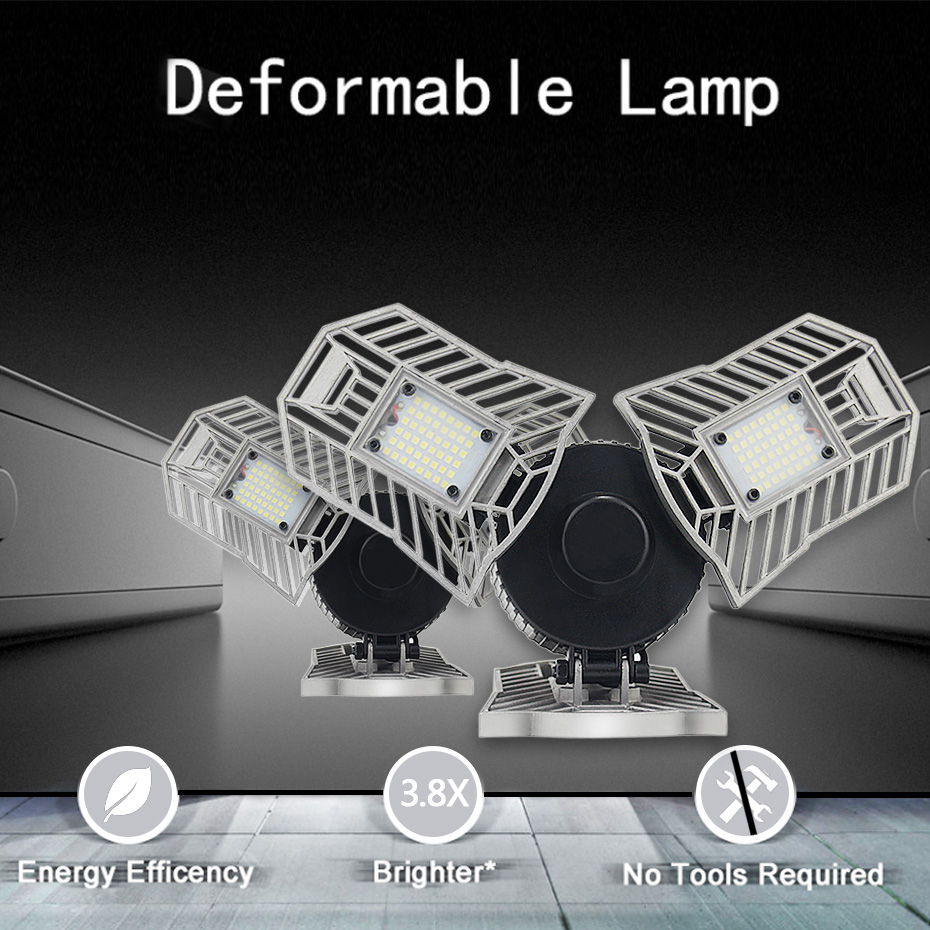 60W Deformable Indoor Led Lamp Light White 6000K Warm White 3000K AC85 265V 6000LM High Intensity Mining Lamps