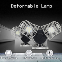 60W Deformable Indoor Led Lamp Light White 6000K Warm White 3000K AC85 265V 6000LM High Intensity Mining Lamps