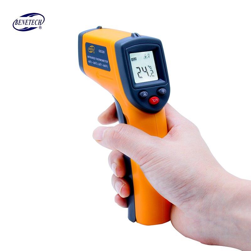 Laser senza contatto Digitale termometro a infrarossi GS320-50 ~ 360C (-58 ~ 680F) Themperature Pirometro IR Laser Pistola del Punto