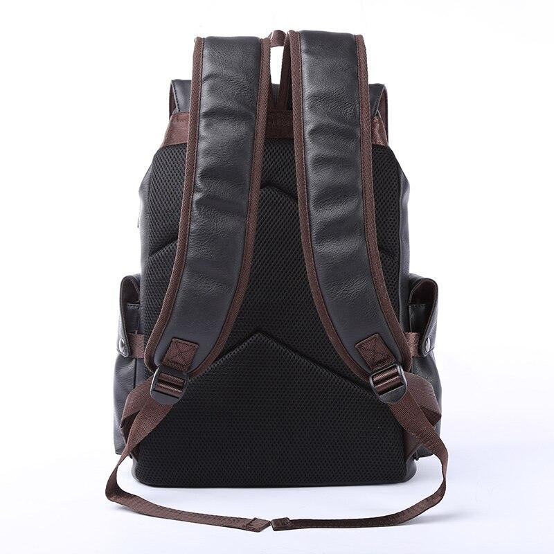MOYYI célèbre marque sac à dos en cuir de Style scolaire sac pour collège conception Simple hommes imperméable à décontracté casual Daypacks mochila 2019 - 3