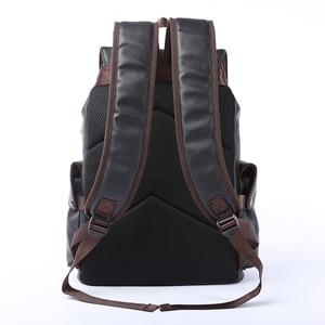 Image 3 - MOYYI célèbre marque école Style sac à dos en cuir sac pour collège conception Simple hommes imperméable décontracté Daypacks mochila 2019