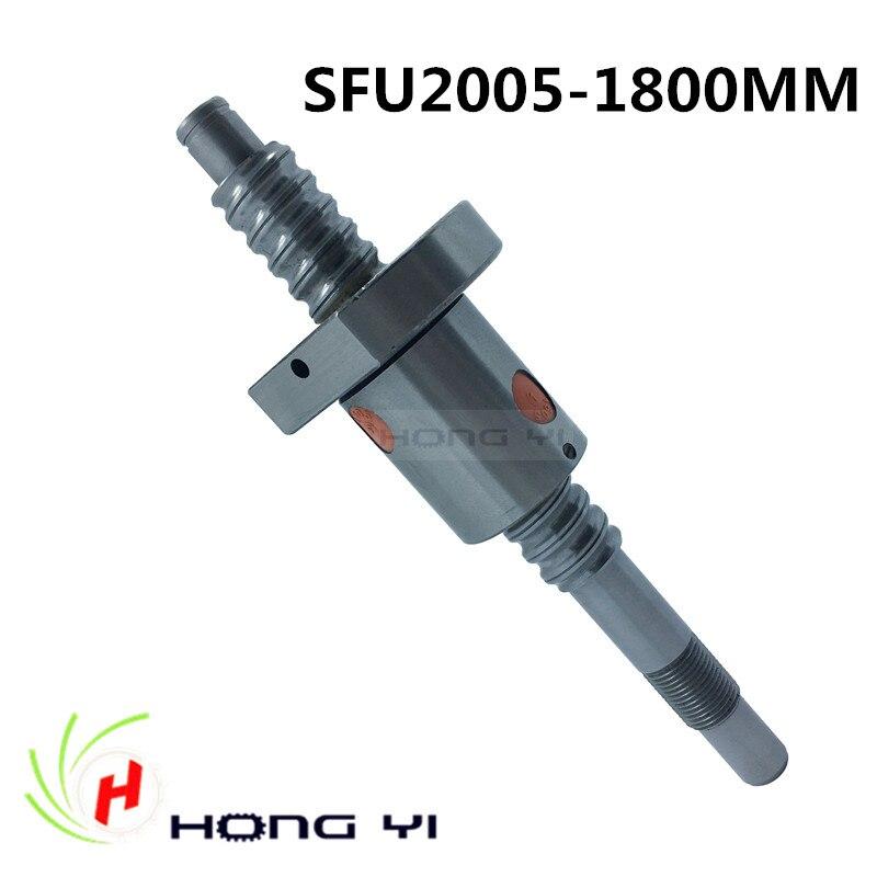 Ball screws 2005 -L1800mm + 1pcs SFU2005 single ballnut + end machining is optional for CNC Linear Working Table niko 50pcs chrome single coil pickup screws