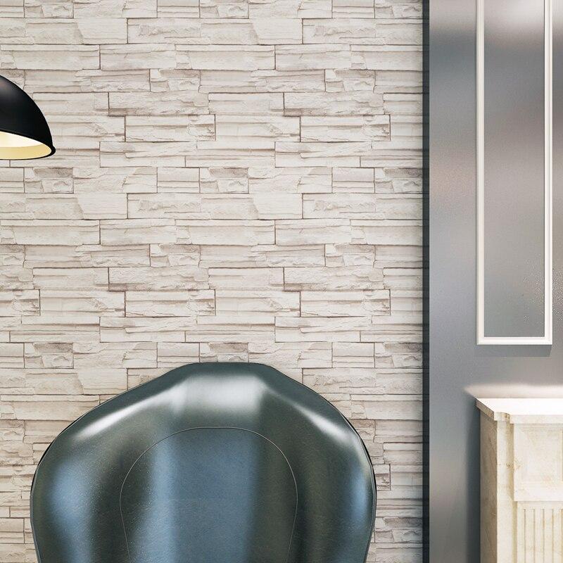 Geprägte 3D Ziegel Tapete Abnehmbare Stein Muster Wasserdichte PVC  Wandverkleidung Für Wohnzimmer Wohnkultur QZ0544 In Geprägte 3D Ziegel  Tapete Abnehmbare ...