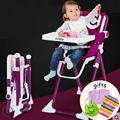 Multicolor luz cadeira de alimentação do bebê multifuncional criança cadeira de jantar do bebê portátil dobrado para 1-10 anos de idade do bebê pode carga 70 kg
