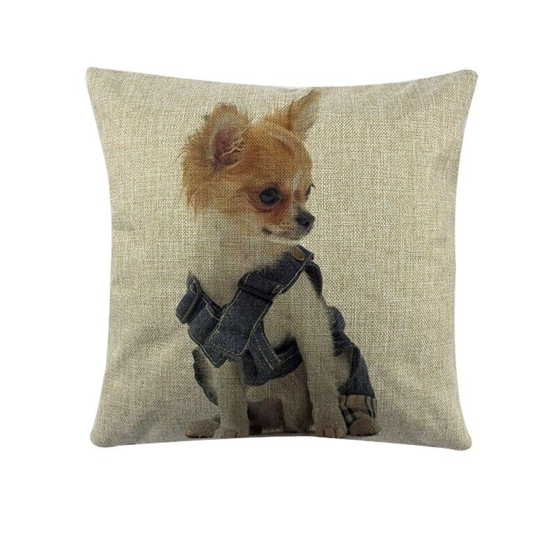 Милые Товары для собак узор Чехлы для подушек удобный диван Наволочки для дома моды decorateive животных Чехлы для подушек