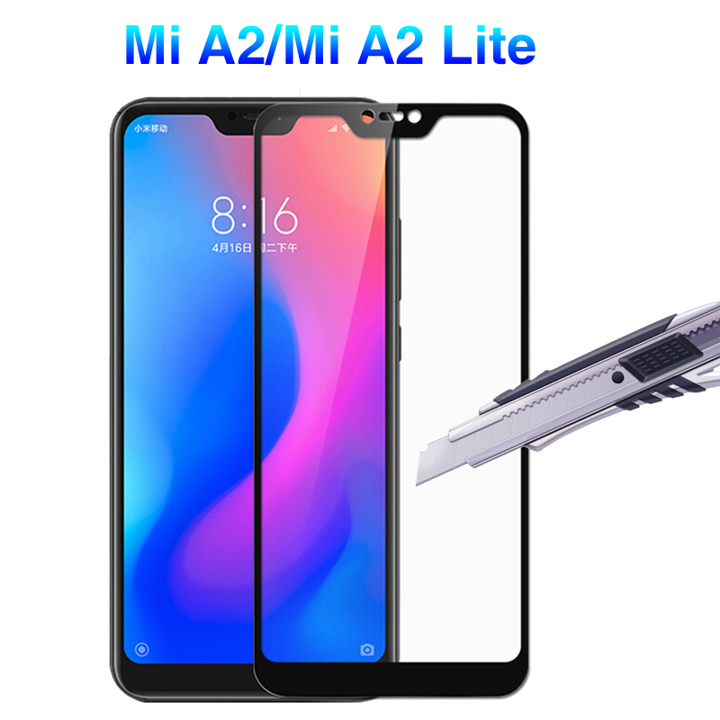 3D Protective Glas For <font><b>Xiaomi</b></font> <font><b>mi</b></font> A2 Lite Tempered Glass For Xioami Xaiomi My A2 Light A1 6x 5x mia2 <font><b>A2Lite</b></font> <font><b>5.84</b></font> Screen Protector image