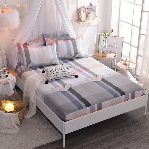 (New On Product) 1pcs 100% Cotton Printing bed mattress set with four corners and elastic band sheets(pillowcases need order) 20