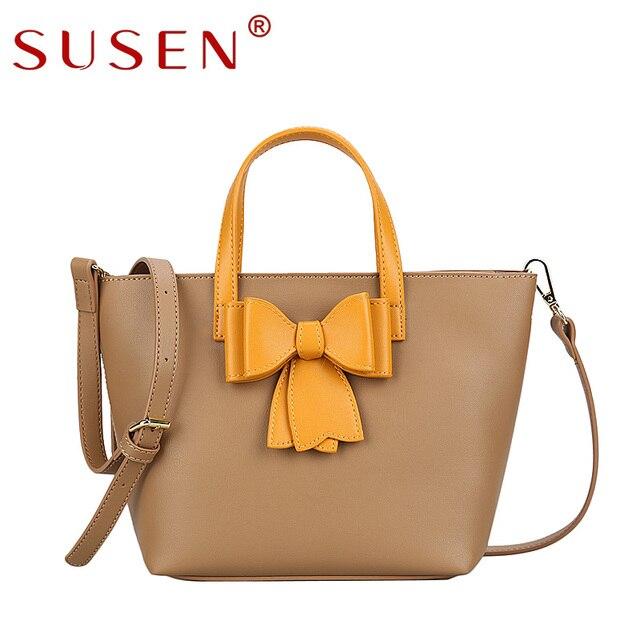 2781cae90 Susen ماركة مصمم الكتف حقيبة يد المرأة الأزياء الفاخرة السيدات العنق pu حمل  الحقائب