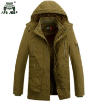 High Quality Thickening Brand Winter Coat Cotton Padded Jacket Men New Casual Warm Fleece With Fur