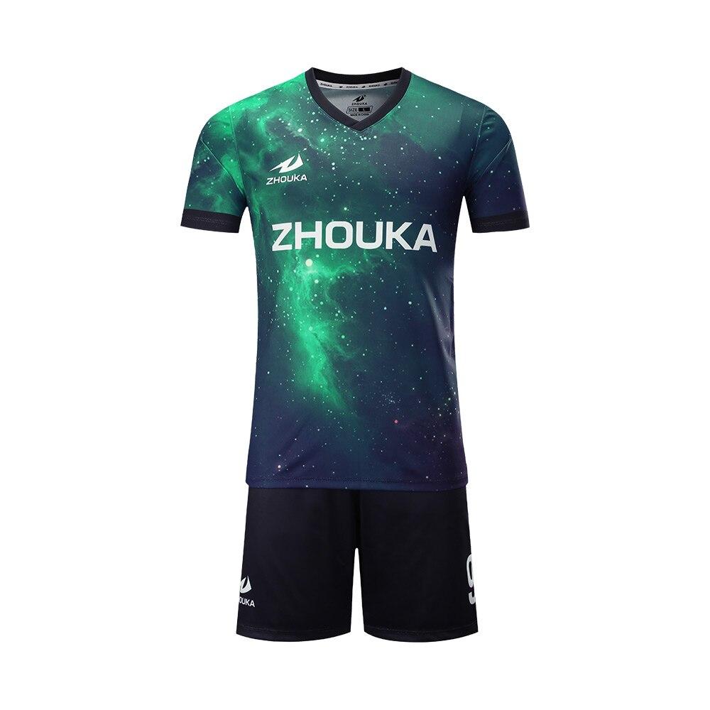 64c41bf415 Novo manga Curta camisas De Futebol uniformes do clube personalizada todo o  logotipo número cor