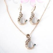 Женские Ювелирные изделия золотого цвета австрийские кристаллы