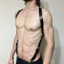 2019 New Sex Belt Cowboy Men Leather Harnesses Witchy Body Harness Harajuku League Gothic Novelty Fashion Black