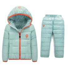 BibiCola Baby Boy clothing sets Winter thick Snowsuit Children Girls Down Coats Clothing Set Children's Winter Warm Jacket Pants