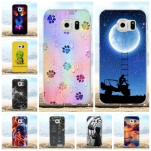 For Samsung Galaxy S6 Case Soft TPU Silicone G920 G920F Cover Flowers Pattern Coque