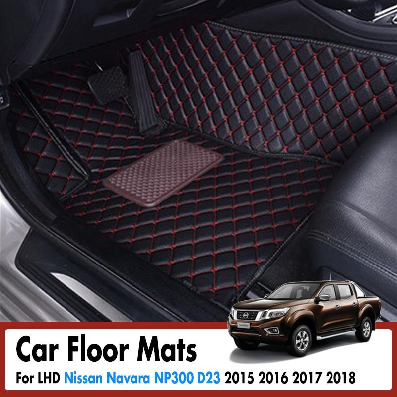 Car Floor Mats For Nissan Navara NP300 D23 2015 2016 2017 2018 Rugs Dash Mats Cargo