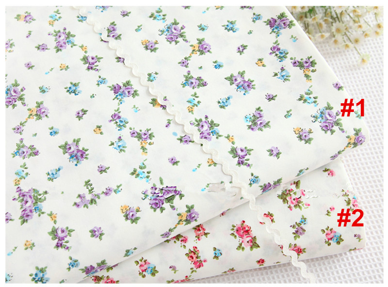 Fabric 1 Meter 100% Cotton Twill Fabric With Blue Or Pink Little Floral Prints Home & Garden Bedding Handmade Diy Cloth Cr-907 Beneficial To Essential Medulla