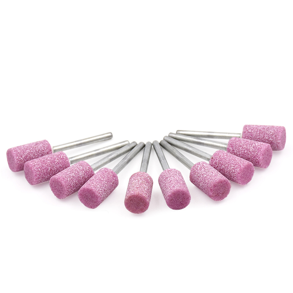 Абразивные инструменты для камня, 10 шт., электрическая дрель цилиндрического типа, Шлифовальная головка, инструмент для вращающихся инструментов Dremel, аксессуары
