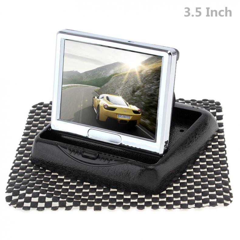 3 5 Inch Foldable HD 480 x 234 Resolution 2 Channel Video Input TFT LCD Car Monitor for Rear View Camera DVD VCD in Car Monitors from Automobiles Motorcycles