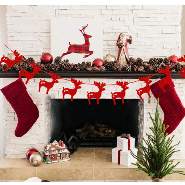 3m elks garlands christmas decoration hanging paper 2017 new creative cardboard party decoration for home and - Cardboard Christmas Decorations