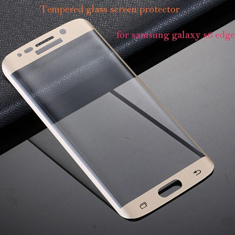 3D <font><b>Full</b></font> <font><b>Cover</b></font> <font><b>Curved</b></font> <font><b>Side</b></font> Tempered Glass 50pcs Film Screen Protector For <font><b>Samsung</b></font> <font><b>Galaxy</b></font> S6 <font><b>Edge</b></font>