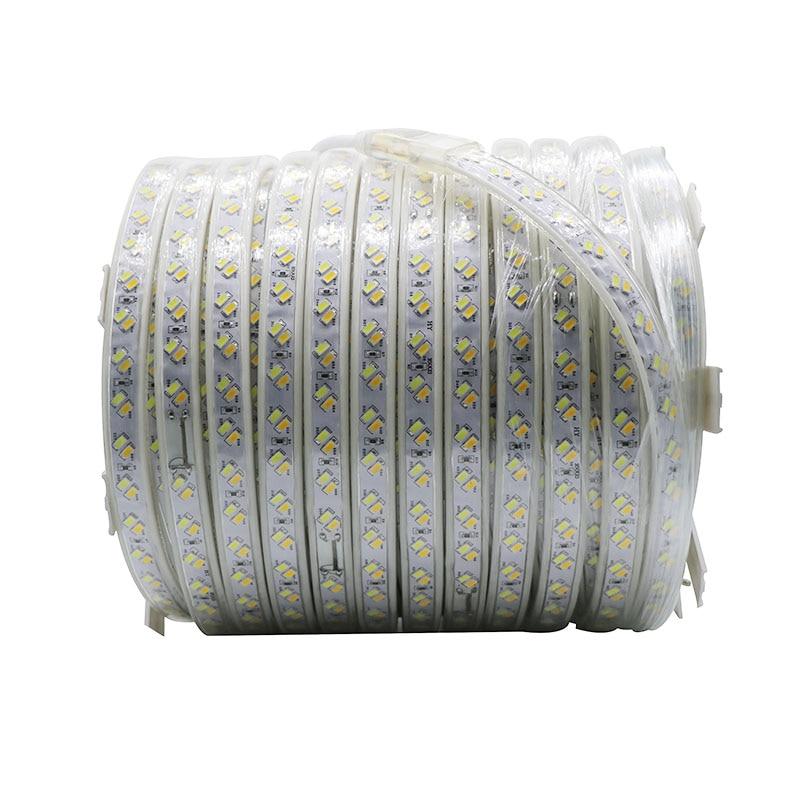 SZYOUMY 220 V Светодиодные ленты веревки света 5630 5730 SMD двойной белый с регулируемой яркостью Водонепроницаемый IP67 под шкафы DIY вечерние освещения 120 светодиодный s/M - 2
