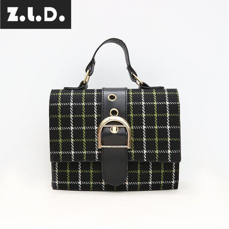 Z.L.D.2018 New Casual Cross Body Bag Plaid Small Party Bag Fashion Handbag Women Messenger Bags Woman Hand Bag