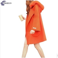 TNLNZHYN Winter NEW Women Clothing Woolen Cloth Coat Fashion Thicken Big Yards Cloak Fur Collar Warm