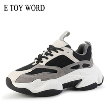 E TOY WORD Women Casual Shoes 2019 Autumn Shoes Women Sports Shoes Platform Lace-Up Breathable Daddy shoes Women Sneakers
