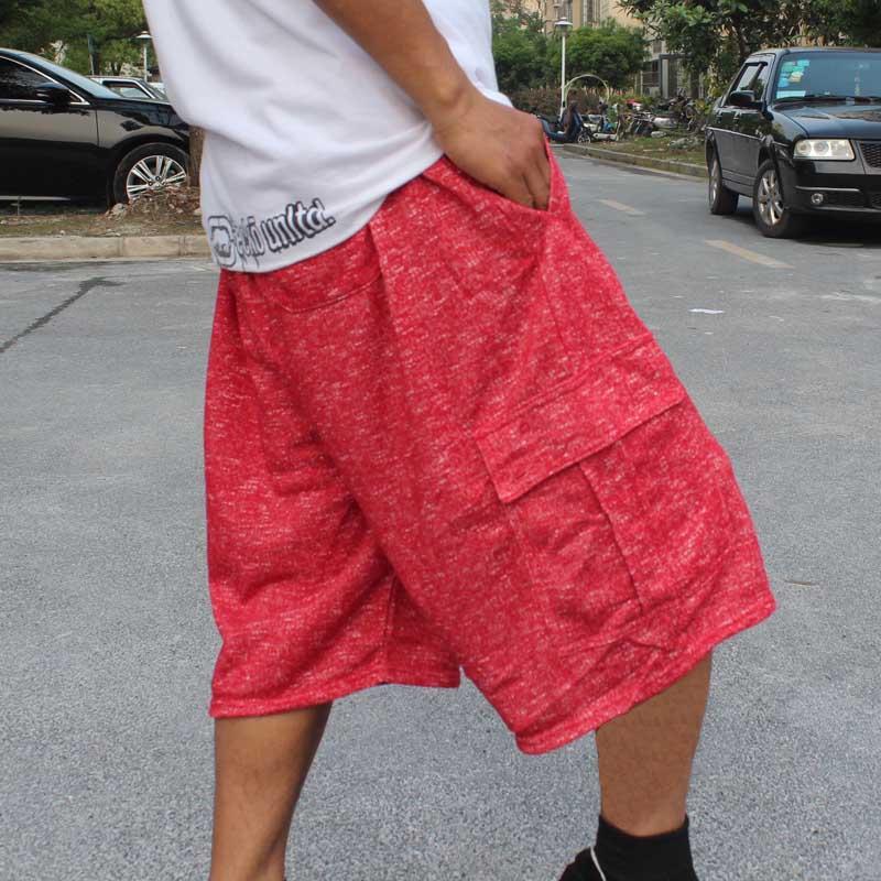 Plus Size Cargo Shorts Men Casual Straight Loose Baggy Sweatpants Cotton Hip Hop Shorts Joggers Streetwear Beach Shorts Clothes