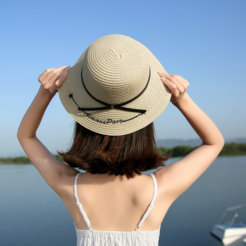 Wide Brim Straw Hat For Women Summer Sun Hats For Women Ladies Straw Hats Brown Girl Bea ...