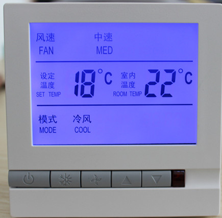Free Shipping 40 Pieces Central Air Conditioning Thermostat LCD Digital Display SML-605F for 2 pipe fan coil unit intelligent automaticly lcd digital display lux meter free shipping