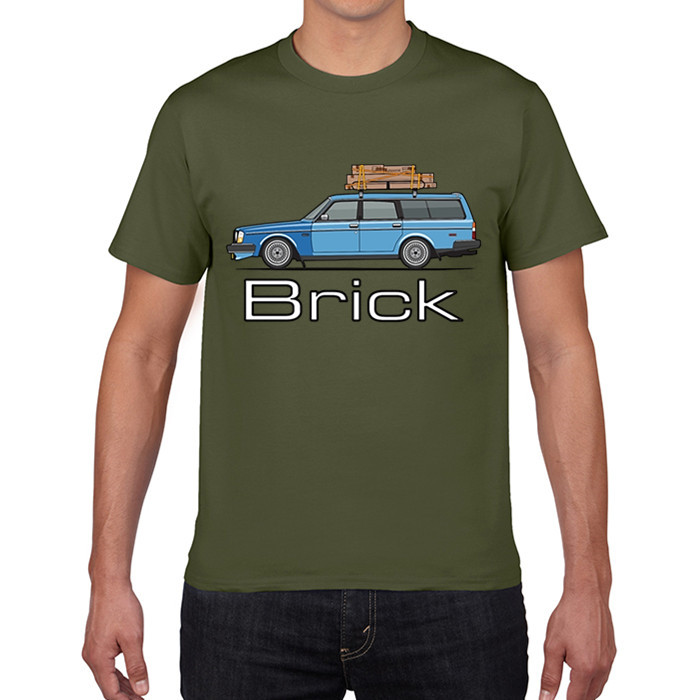 GILDAN designer t shirt Autumn Brick Volvo 245 240 Wagon Men Pre-Cotton Short T-Shirt New Europe And American Teenage T Shirt