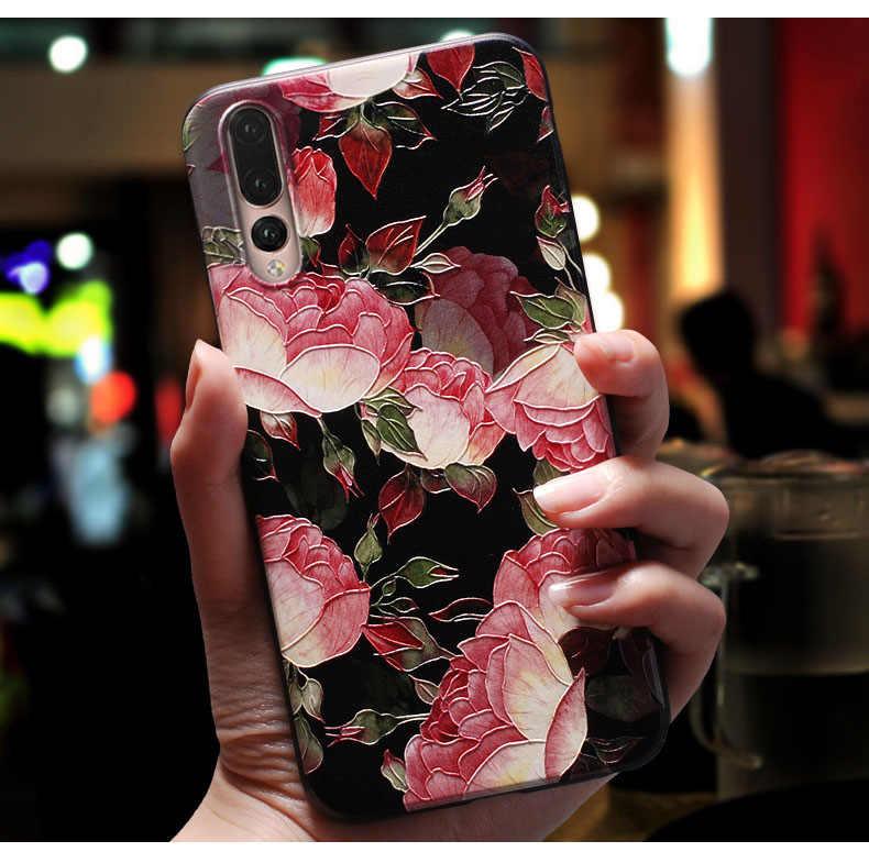 لسامسونج S9 زائد حافظة ثلاثية الأبعاد زهرة النقش لينة سيليكون الهاتف الغطاء الخلفي اغلفة السامسونج غالاكسي S8 S7 S6 حافة S 7 S7Edge S 9 8