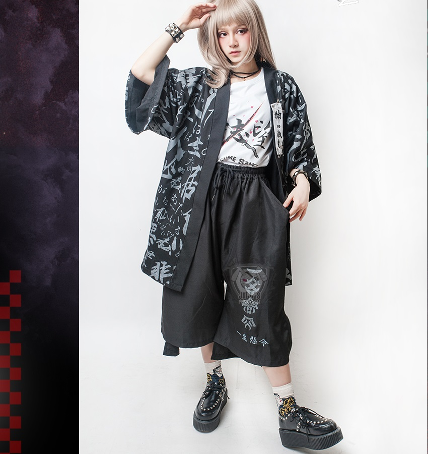 Cordon 2018 Nouveau Taille Rue Noir Jambe Cheveux Plus Et Pantalon Impression Mode Clohting Punk De Large Styliste Gothique Hommes Femmes La Costumes OBrgnFB