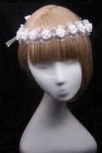 Crystal Acrylic Rhinestone Hairband Headband  Wedding Bridal Vintage Hair Accessories DIY Flower Women Headpieces Headwear