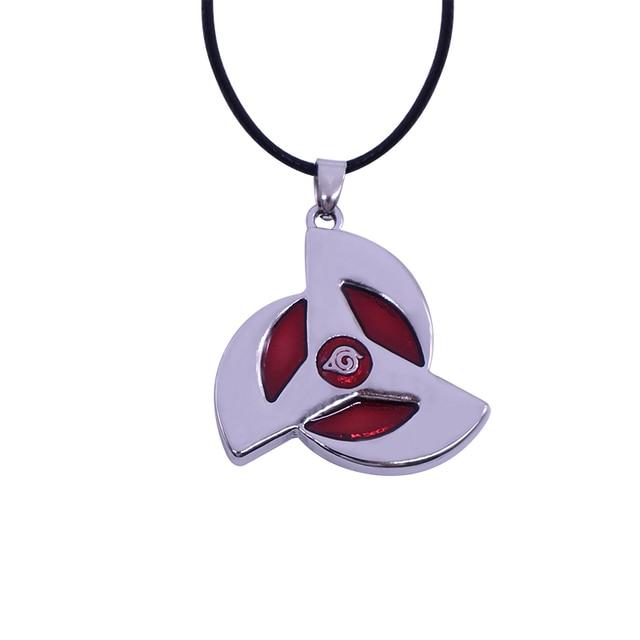 Anime Naruto Metal Necklace Uchiha Itachi Sharingan Write round eyes Pendant Cosplay Accessories Jewelry