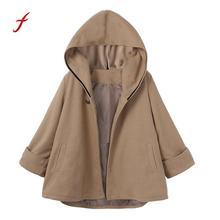 Осенне-зимнее элегантное женское пальто, модное повседневное пальто с капюшоном и карманами, однотонная верхняя одежда, плащ, пальто, Roupas Feminina/PT