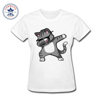 2017 Best Gift For Friend Dabbing Unicorn Girl S Fashion Cat Cartoon Funny Cotton Funny T