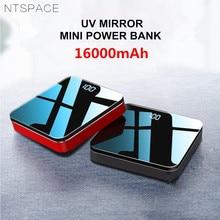 16000mAh UV Mirror Aluminium Alloy Portable Mini Power Bank 2.1A Fast Charging Dual USB Mini Powerbank External Quick Charge цена 2017