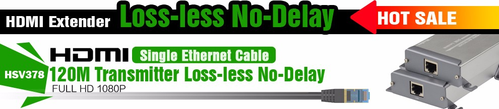 HSV378 1080P Lossless HDMI Extender Over Cat5Cat5eCat6 No Delay Lossless HDMI Extender Support Up To 120m Transmitter Receiver (2)