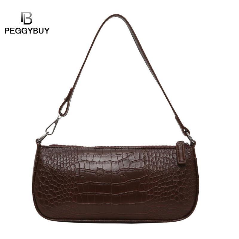 Retro Alligator Pattern Women Messenger Flap Handbags PU Leather Street Casual Solid Zipper Shoulder Bags Bolsa Mujer 2019 New