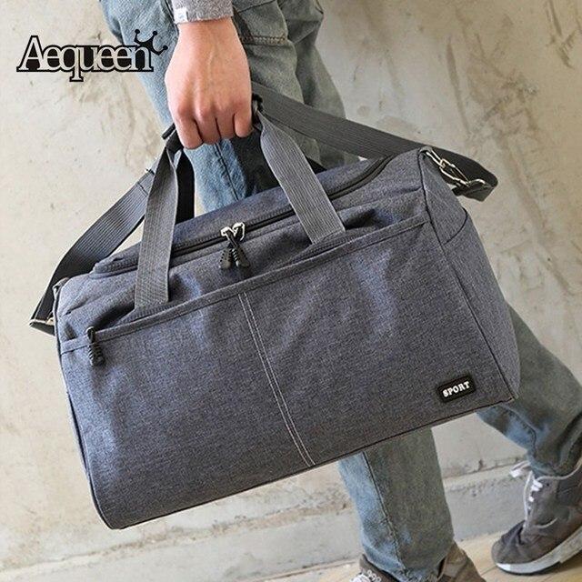 AEQUEEN Oxford Cloth Travel Bag Mens Tote Organizer Bags Luggage Handbags  Large Capacity Traveling Duffel Weekend abeb6f99ba312