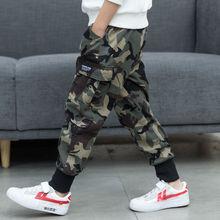 2019 Spring  Autumn Models Boys Fashion Camouflage Harem Pants