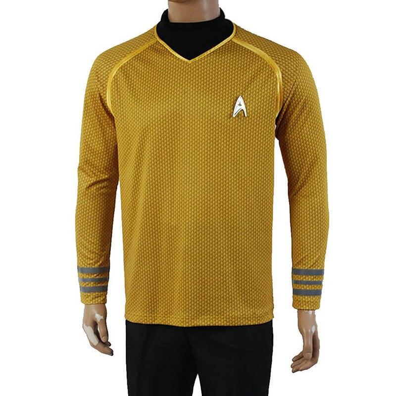 For Adult Star Trek Enterprise Captain Kirk Shirt /& Top New Fancy Dress Costume