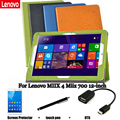 For Lenovo MIIX 4 Miix 700 protective Leather Case Protective Shell/Skin case 12'' Tablet PC dormancy