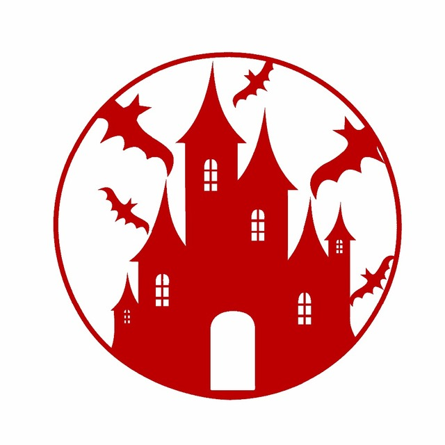 Halloween Stickers decaration Castle DIY decals Type A Car sticker ...