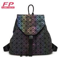 2016 New BaoBao Luminous Backpacks Female Fashion Girl Daily Backpack Geometry Package Sequins Folding Bags Bao