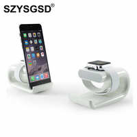 SZYSGSD Silicone Charging Dock Station For Apple Watch Charger Desktop Holder For IPad IPhone Samsung Xiaomi
