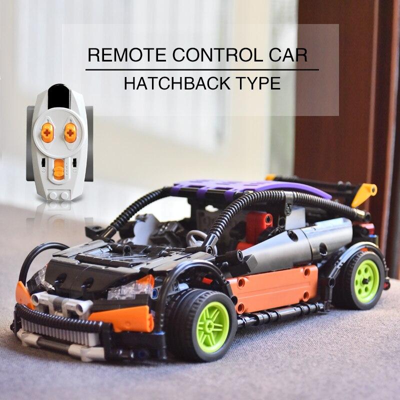 Лепин 20053 20053B техника серии хэтчбек тип RC автомобиль Building Block Совместимость с Legoed MOC-6604 дистанционное управление автомобили